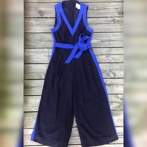 Anthropologie Elevenses Beca Blue Jumpsuit Romper